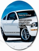 1994-2010 Ford Mustang Body Side Graphic Kit 9