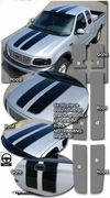 1997-2003 Ford F-150 Rally Stripes Graphics Kit 3