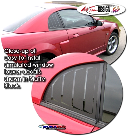 1999 2004 Ford Mustang Simulated Window Louver Decal Kit 2 4 Jpg