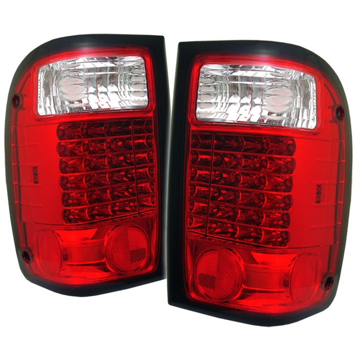 2001 2005 Ford Ranger Led Red Clear Tail Lights 3 Jpg