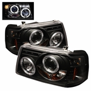 2001-2008 Ford Ranger Halo LED Projector Headlights - Black