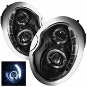 2002-2006 MINI Cooper DRL LED Projector Black Headlights