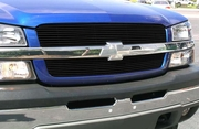 2003-2005 Chevrolet Silverado and SS Black Billet Grille Overlay Bolt-On or Insert