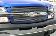 2003-2005 Chevrolet Silverado and SS Polished Billet Grille Overlay Bolt-On or Insert