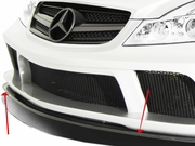 2003-2012 Mercedes SL Class R230 Carbon AF Signature 1 Series Wide Body Conversion Front Add On Spoiler