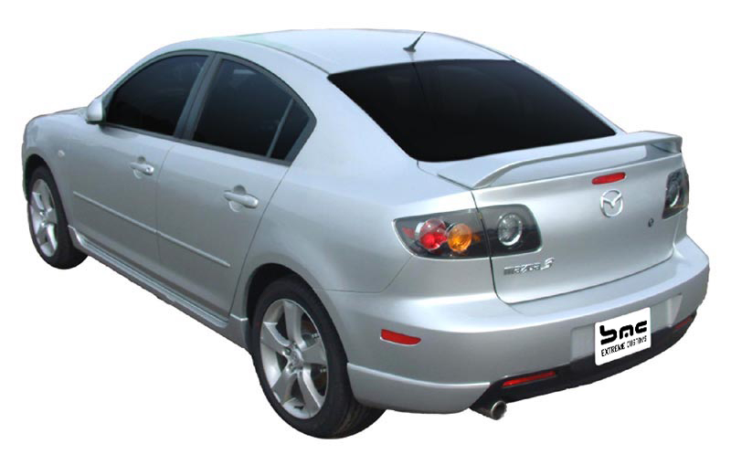 04 05 06 07 08 09 mazda 3 painted factory style spoiler. Black Bedroom Furniture Sets. Home Design Ideas
