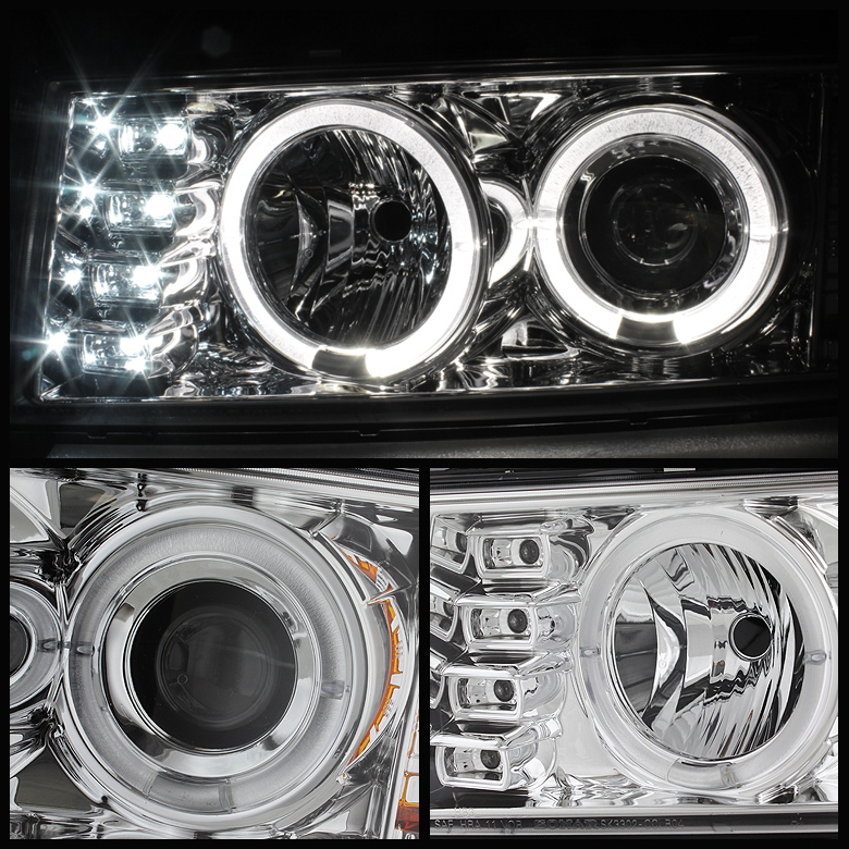 2004-2012 Colorado / 2004-2012 GMC Canyon Projector Headlights - Halogen Model Only - LED Halo ...