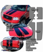 2004-2014 Ford F-150 Rally Stripes Graphics Kit