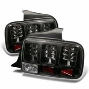 2005-2009 Ford Mustang 05-09 LED Black Tail Lights