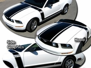 2005-2009 Ford Mustang Boss 302 Style Retro Graphics Kit