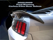 2005-2009 Ford Mustang Carbon Fiber Spoiler / Rear Wing, 3 Pcs