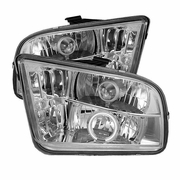 2005-2009 Ford Mustang CCFL LED Chrome Projector Headlights