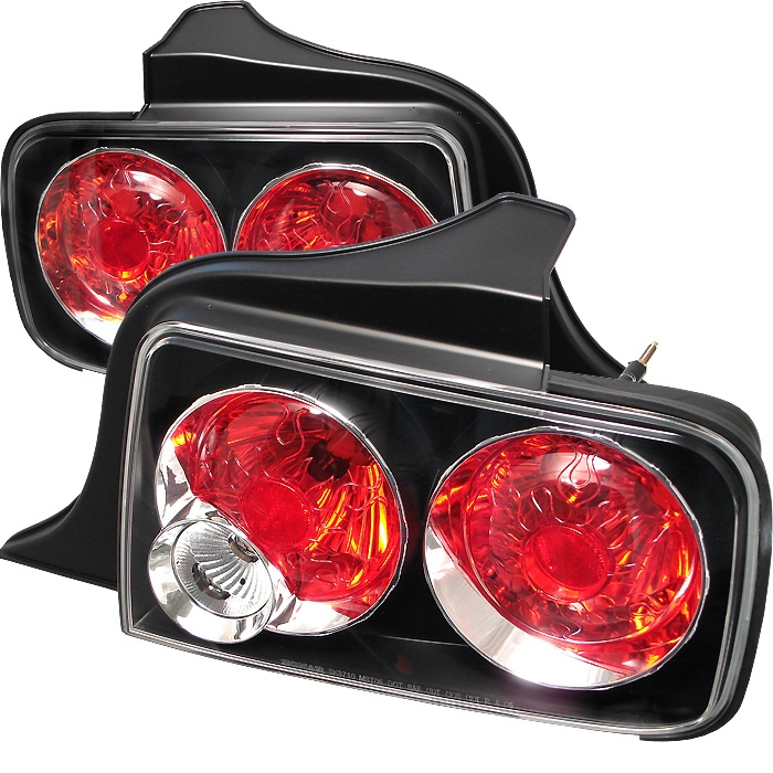 2005 2009 Ford Mustang Euro Style Black Tail Lights 4 Jpg