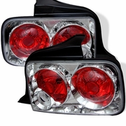 2005-2009 Ford Mustang Euro Style Chrome Tail Lights