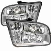 2005-2009 Ford Mustang Halo LED Chrome Projector Headlights