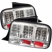 2005-2009 Ford Mustang LED Chrome Tail Lights