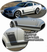 2005-2010 Ford Mustang Body Side Graphic Kit 4