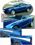 2005-2009 Ford Mustang Body Side Graphic Kit 6