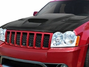 2005-2010 Jeep Grand Cherokee Hellcat Style Hood Carbon Creations DriTech