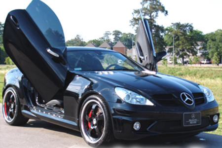 2005 2010 mercedes slk vertical lambo door kit. Black Bedroom Furniture Sets. Home Design Ideas