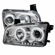 2006-2010 Dodge Charger CCFL LED Chrome Projector Headlights 5009746