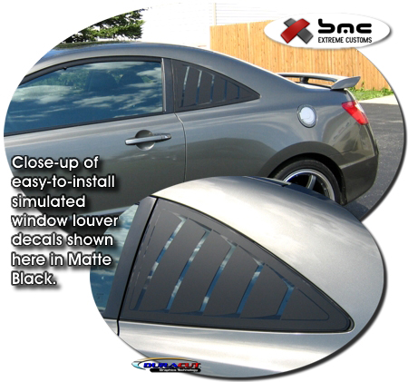 2006 2010 honda civic coupe simulated window louver decal kit 1