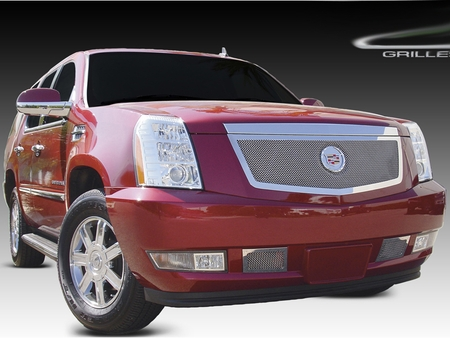 2007-2014 Cadillac Escalade EXT ESV Upper Class Polished Stainless Mesh Grille