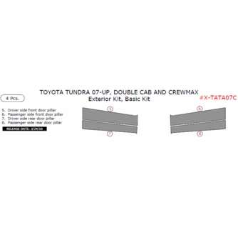 2007 up toyota tundra double crewmax cab basic exterior for Basic exterior door