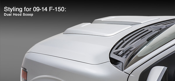 2008-2014 3D Carbon Ford F150 Dual Hood Scoop Style Kits