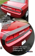 2008-2014 Challenger R/T Bumble Bee Style Rear Lid Graphic Kit 1