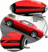 2008-2018 Dodge Challenger Body Side Graphics Kit Style 3