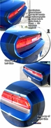 2008-2014 Dodge Challenger R/T Bumble Bee Style Rear Lid Graphic Kit 2 - Wrap-a-Round Style