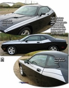 2008-2019 Dodge Challenger  R/T Style Body Side Graphic Kit 1