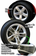 """2008-2014 Dodge Challenger Wheel Graphic Kit 2 for 18"""" Factory Wheels"""