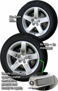 """2008-2014 Dodge Challenger Wheel Graphic Kit for 17"""" Factory Wheels"""