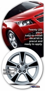 "2008-2015 Chevrolet Cruze 16"" Factory Wheel Graphics Decal Kit 1"