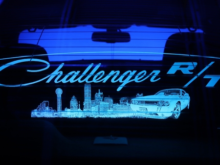 2008-2018 Challenger Custom Display Glow Plate