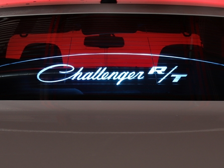"2008-2018 Challenger Glow Plate ""Challenger R/T"" Display"