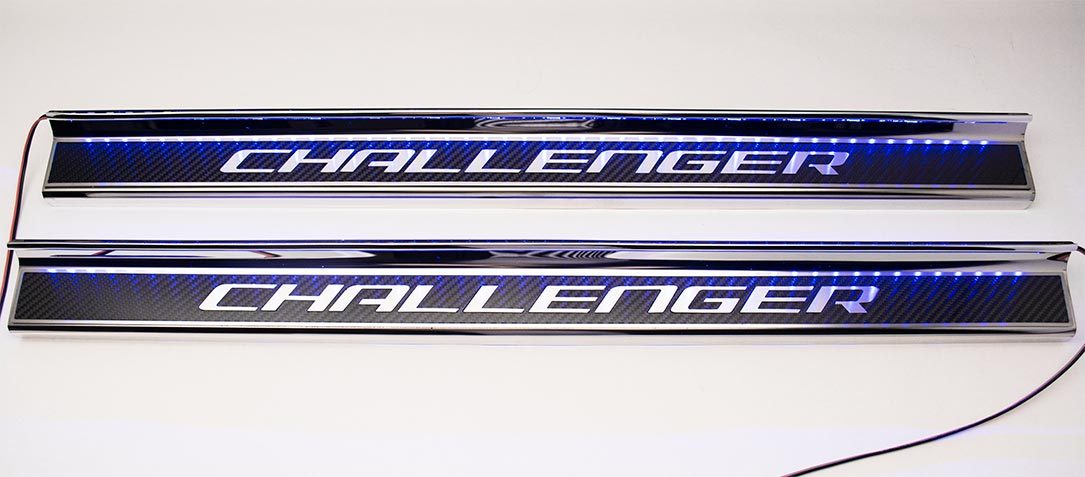 Item# 151046-151047  sc 1 st  BMC Extreme Customs & 2008-2018 Dodge Challenger Carbon Fiber Door Sills w/ \