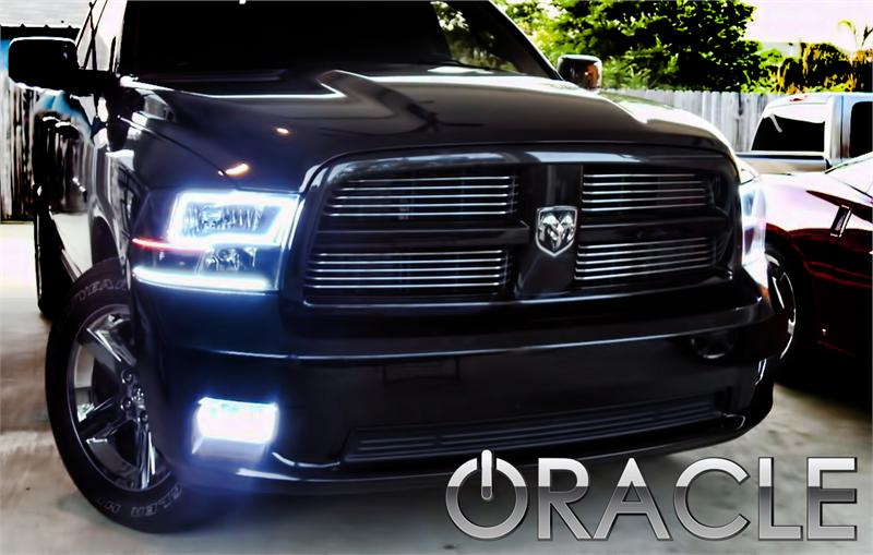 Dodge Ram Oracle Fog Light Halo Kit on Dodge Ram Fog Light Kit