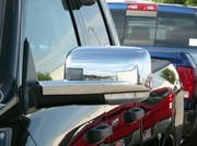 2009-2012 Dodge Ram Chrome ABS Mirror Cover Insert Accents