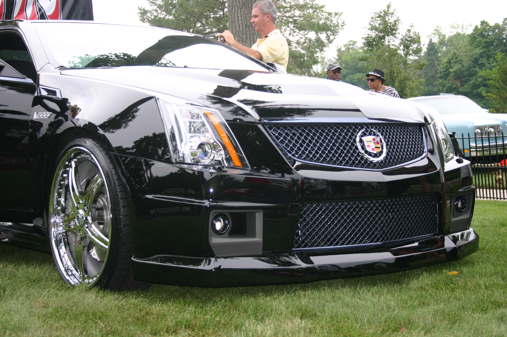 2009 2014 cadillac cts v front chin lip spoiler. Black Bedroom Furniture Sets. Home Design Ideas