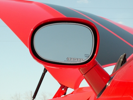 """2008-2014 Challenger Stainless """"425HP"""" 2pc Side Mirror Trims ACC 151015"""