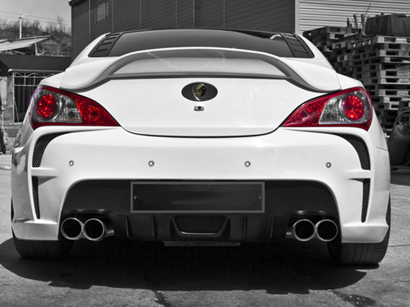 2010 2011 Hyundai Genesis Coupe Rear Trunk Spoiler