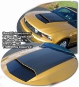 2010-2012 Ford Mustang Hood Enhancement Graphics Kit 7