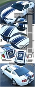 2010-2012 Ford Mustang Rally Stripe Graphic Kit 5