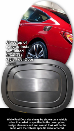 2010-2013 Hyundai Genesis Coupe Simulated Billet Style Fuel Door Decal