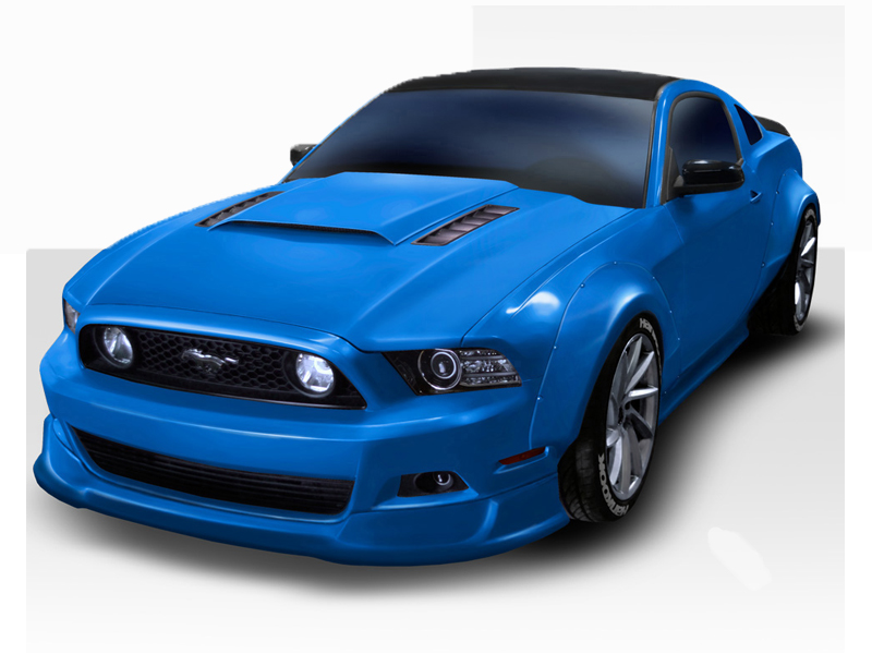 2010 2014 ford mustang duraflex circuit wide body kit 4pc. Black Bedroom Furniture Sets. Home Design Ideas