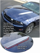 2010-2014 Ford Mustang Hood Enhancement Graphic Kit 1