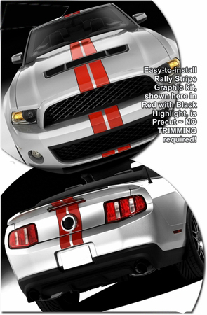 2014 Shelby Gt500 Black With Red Stripes